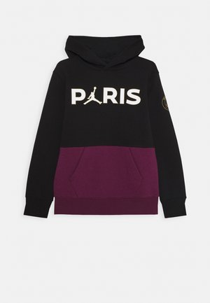 HOODIE - Club wear - black/bordeaux
