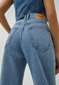 PULL&BEAR - Jeans a sigaretta - mottled dark blue - 5
