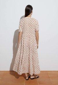OYSHO - LONG STAMP  - Maxi dress - off-white - 1