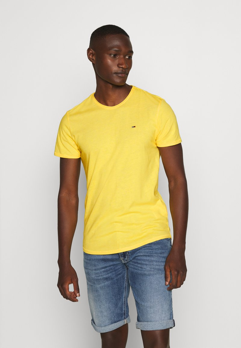 Tommy Jeans - ESSENTIAL JASPE TEE - Basic T-shirt - star fruit yellow