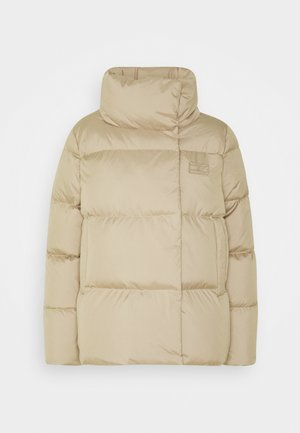 WRAP JACKET - Down jacket - beige