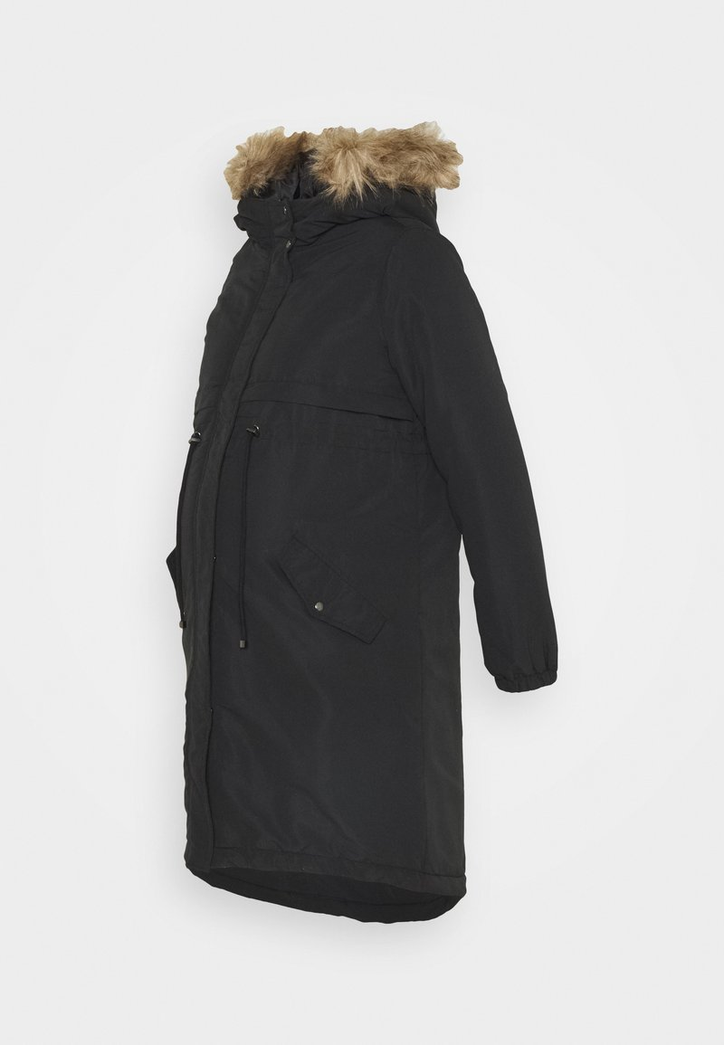 MAMALICIOUS - MLJESSA LONG - Winter coat - black/nature