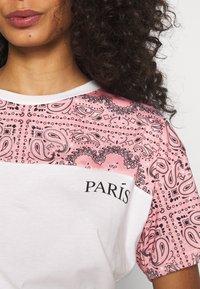 River Island - T-shirt z nadrukiem - white - 4