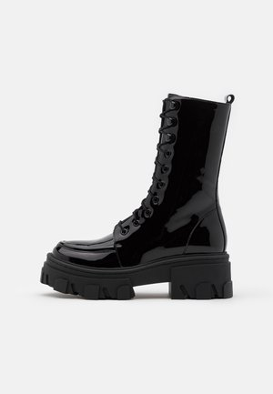 BOTTINE  - Lace-up ankle boots - black
