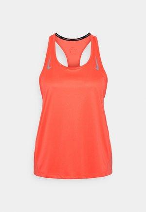MILER TANK RACER - Sports shirt - bright mango/reflective silver