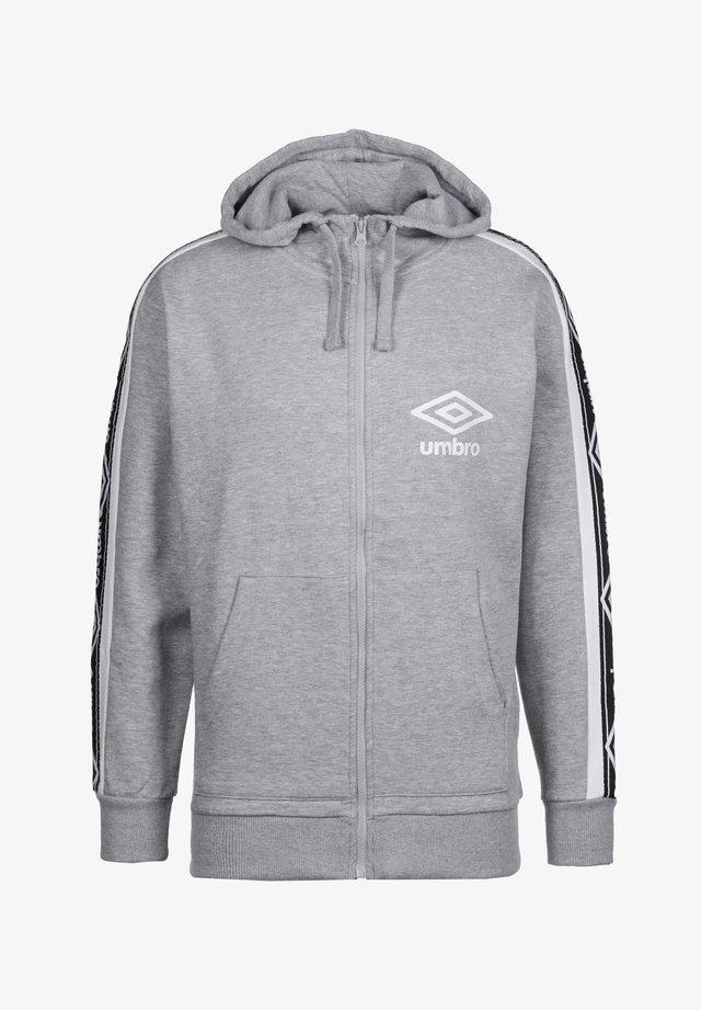 TAPED FZ KAPUZENJACKE HERREN - Zip-up hoodie - grey marl / brilliant white
