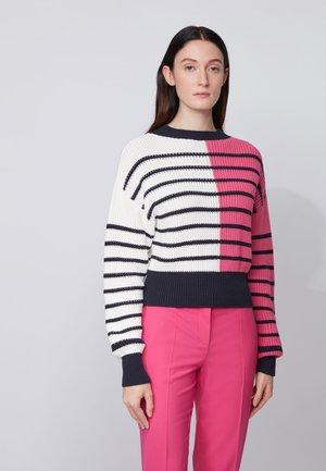 FABRINNA - Jumper - white/pink