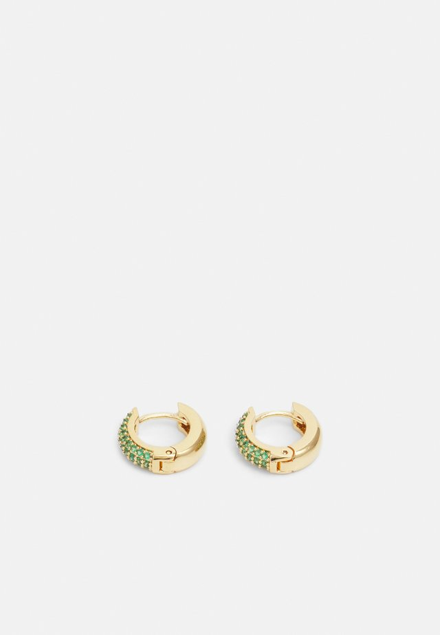 PAVE DOMED HUGGIE HOOP - Boucles d'oreilles - gold-coloured