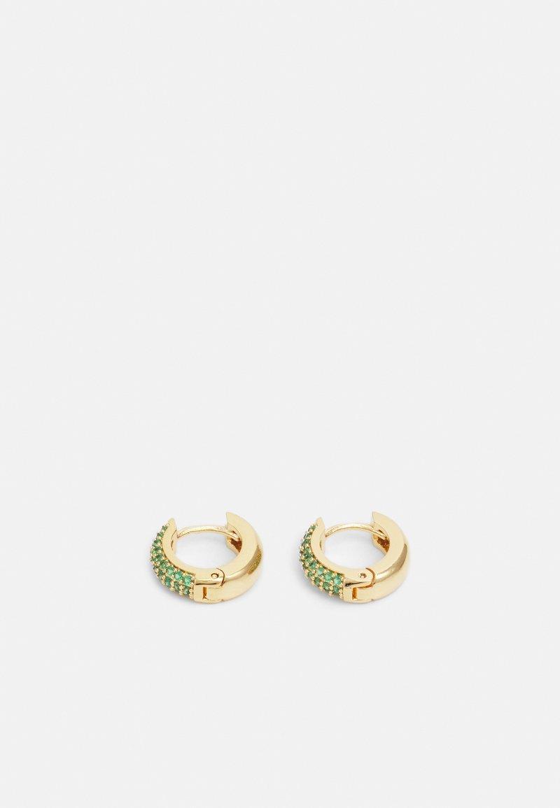 Orelia - PAVE DOMED HUGGIE HOOP - Earrings - gold-coloured