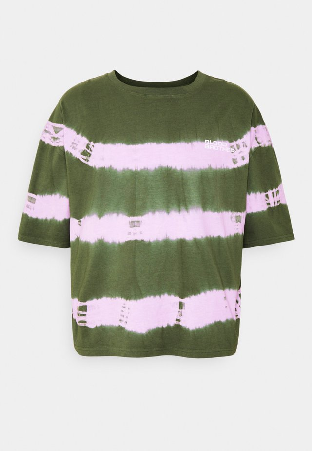 ROUND LAKE TEE UNISEX - T-shirt med print - khaki