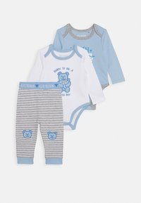 Guess - BODY AND PANTS BABY SET - Body - white/blue combo - 0
