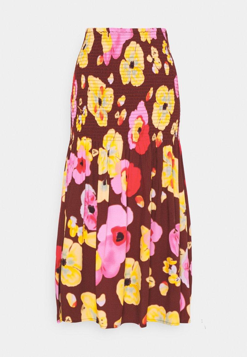 YAS - YASPHANNI SMOCK SKIRT - A-line skirt - madder brown