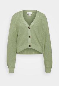 Monki - ZETA CARDIGAN - Cardigan - green - 0