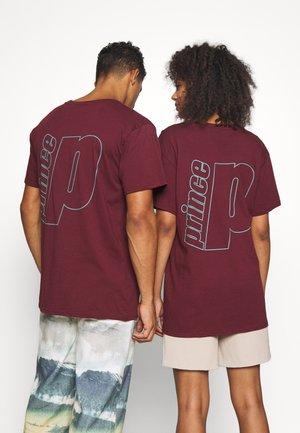 TEE UNISEX - Print T-shirt - burgundy