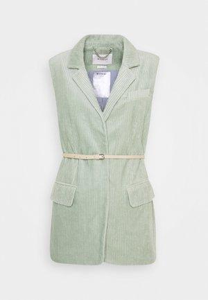 VEST WITH BELT - Waistcoat - sage mint