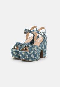 Guess - RION - Platform sandals - denim - 2