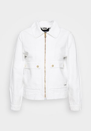 ZIP TRUCKER JACKET WITH FRONT POCKETS - Denim jacket - coconut white