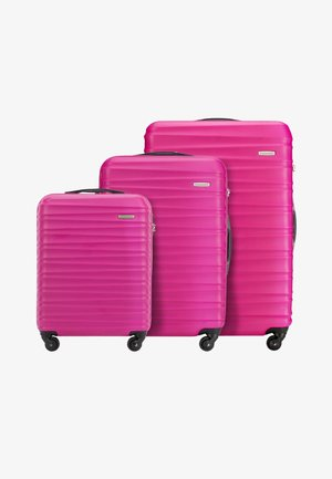 GROOVE LINE SET - Luggage set - pink