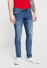 Jack & Jones - JJIGLENN JJFOX  - Slim fit jeans - blue denim - 0