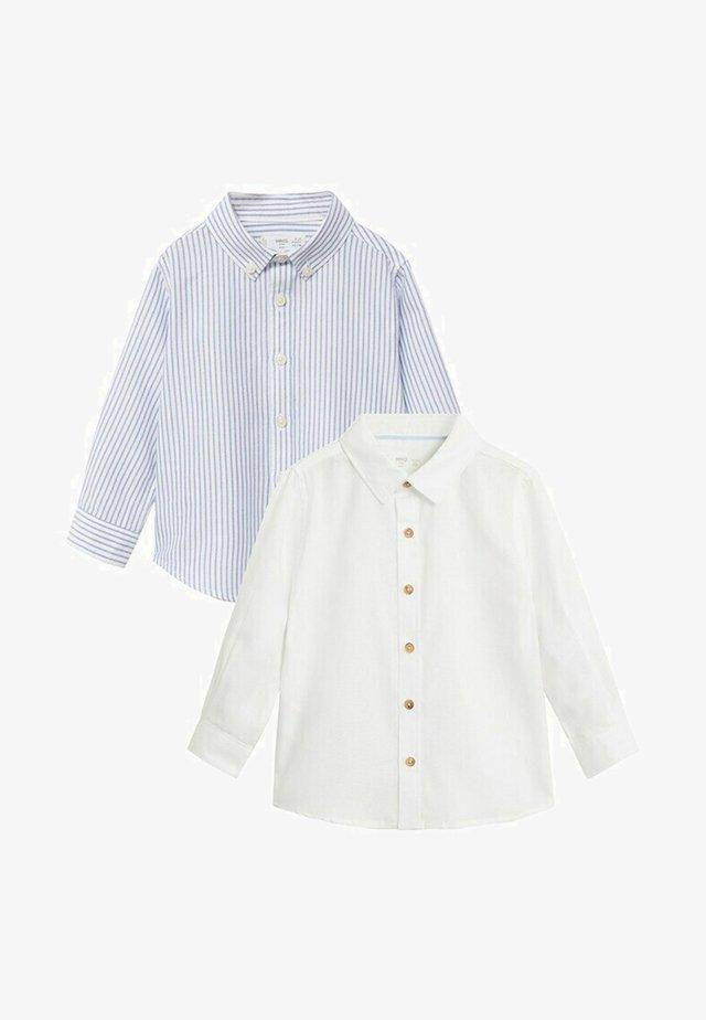 2-PACK - Skjorter - blanc