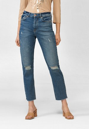 Straight leg jeans - dark stoned