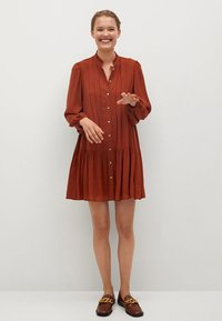 Mango - SOFIA - Shirt dress - rouge-orangé - 1