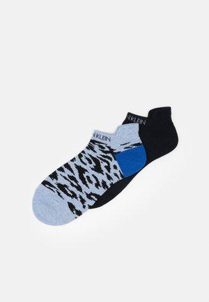 WOMEN LINER LEOPARD BACK TAB LIBBY 2 PACK - Socks - denim combo