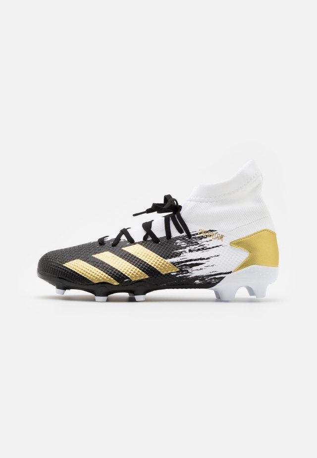 PREDATOR 20.3 FOOTBALL BOOTS FIRM GROUND - Chaussures de foot à crampons - footwera white/gold metallic/core black