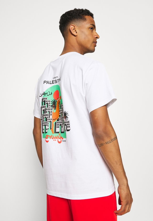VISIT JERICHO TEE UNISEX - T-shirt con stampa - white