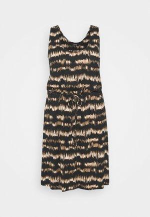 SHORT DRESS - Jersey dress - brown