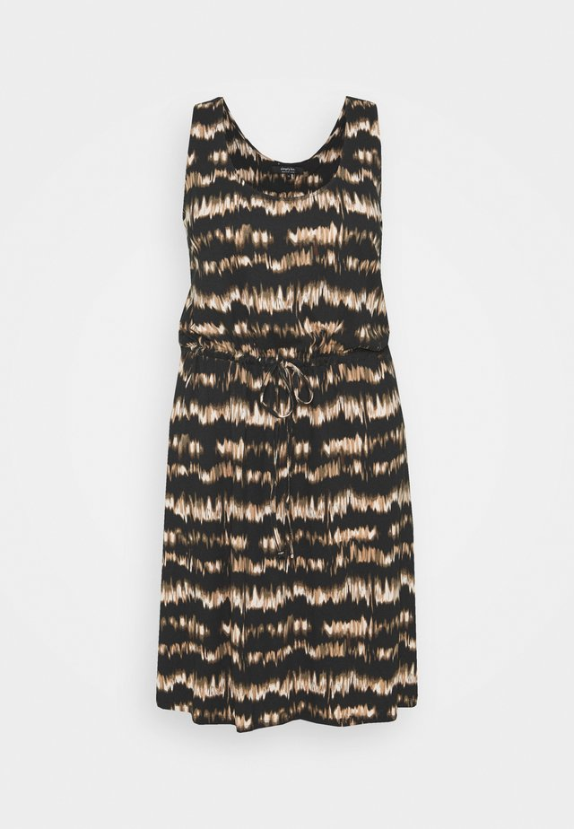 SHORT DRESS - Sukienka z dżerseju - brown