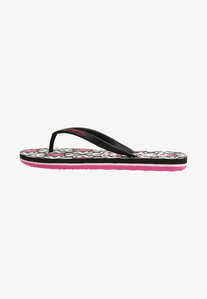 O'Neill - MOYA  - T-bar sandals - black with purple