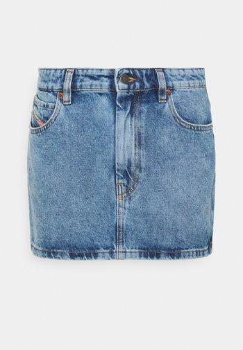 DE-EISY - Mini skirt - denim light blue