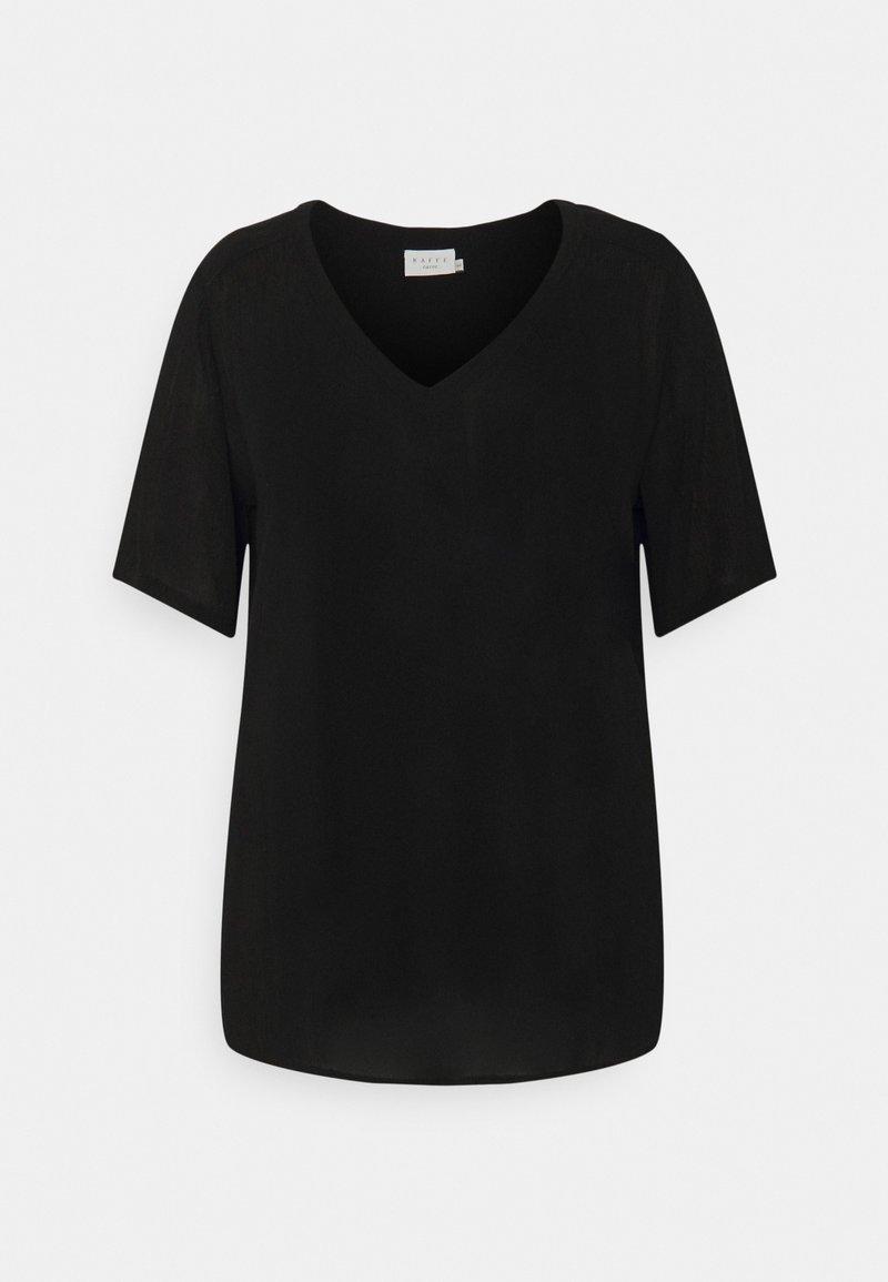 Kaffe Curve - AMI BLOUSE - Basic T-shirt - black deep