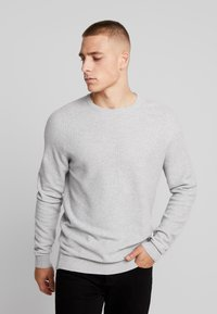 Esprit - HONEYCOMB - Stickad tröja - light grey - 0