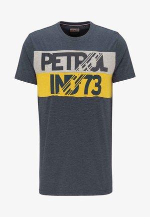 Print T-shirt - black navy