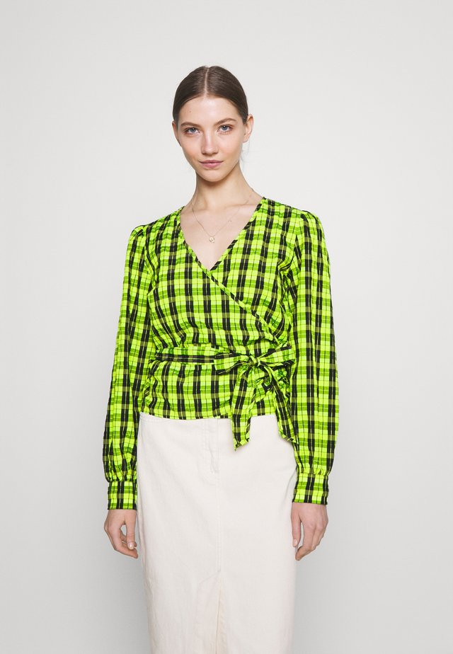 PATTI WRAP - Blouse - neon green