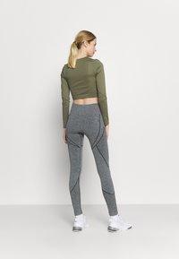 NU-IN - SEAMLESS TWO TONE HIGH WAIST LEGGINGS - Leggings - grey - 2