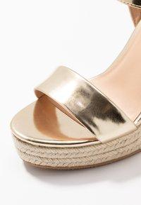 Even&Odd - Sandaler med høye hæler - gold - 2