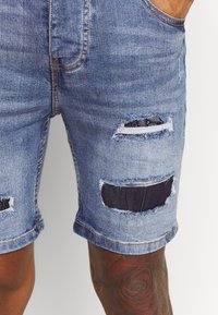 Brave Soul - LOUIS - Denim shorts - blue wash - 4