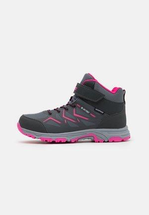 TRIO WP UNISEX - Hiking shoes - mid grey/dark grey/fuchsia