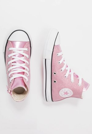 CHUCK TAYLOR ALL STAR SIDE ZIP - High-top trainers - cherry blossom/white