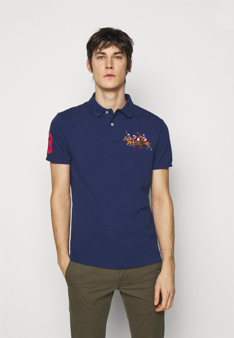 Polo Ralph Lauren - CUSTOM SLIM FIT TRIPLE-PONY POLO SHIRT - Koszulka polo - freshwater