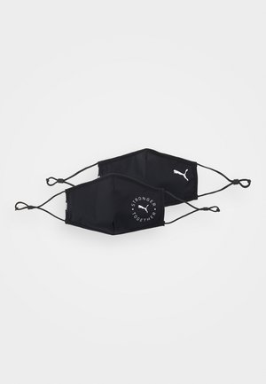 FACE MASK 2 PACK UNISEX - Masque en tissu - black