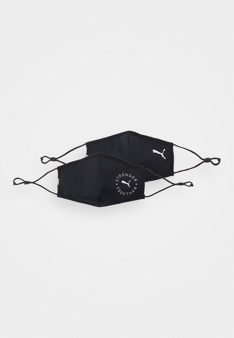 Puma - FACE MASK 2 PACK UNISEX - Community mask - black