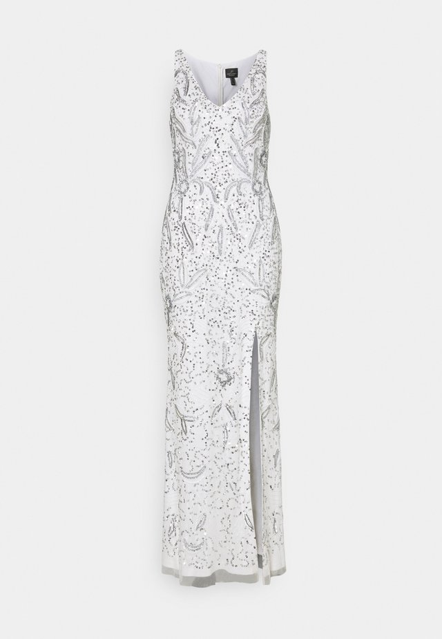 BEADED GOWN WITH MERMAID SKIRT - Robe de cocktail - ivory