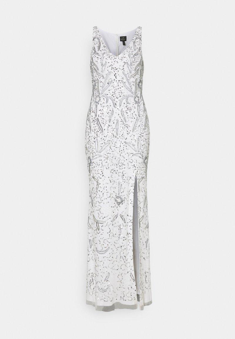 Adrianna Papell - BEADED GOWN WITH MERMAID SKIRT - Společenské šaty - ivory