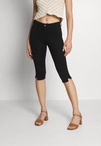 JDY - JDYNIKKI LIFE MIX - Denim shorts - black denim - 0