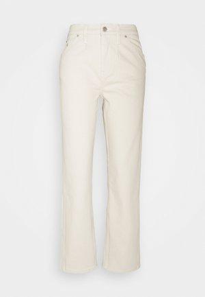 HIGH RISE STRAIGHT ANKLE - Straight leg jeans - denim light