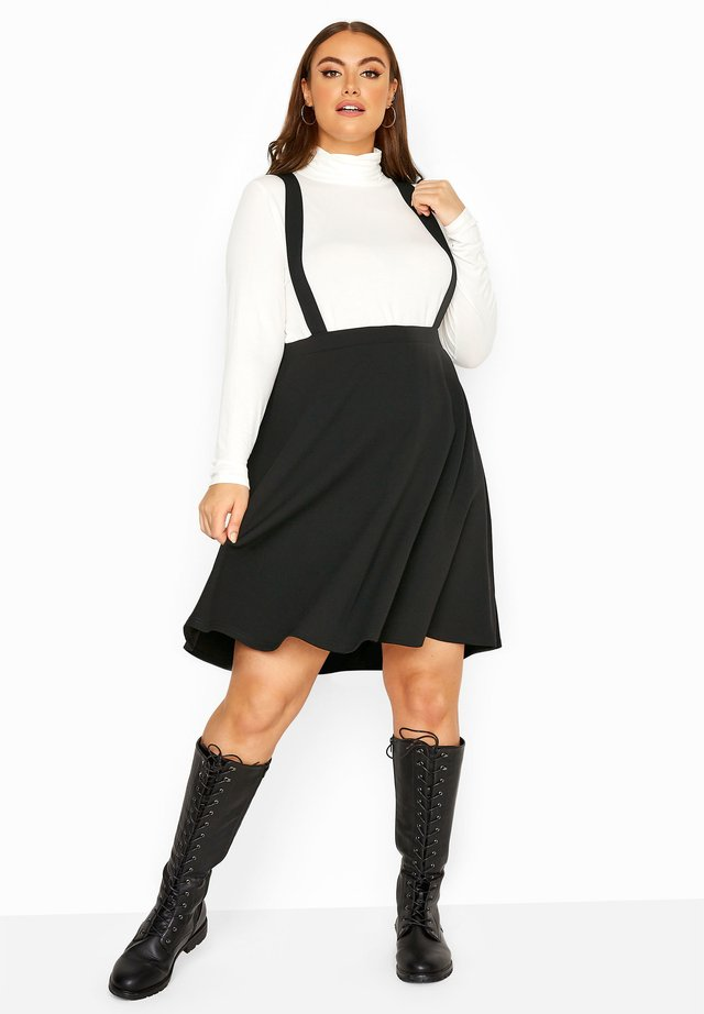 LIMITED COLLECTION PINAFORE - A-line skirt - black